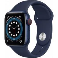 Apple Watch Series 6 GPS + Cellular, 40mm Blue Aluminium Case with Deep Navy Sport Band - Regular *NEW*
