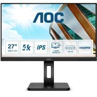 68,4cm/27'' (3840x2160) AOC U27P2 16:9 4ms USB HDMI DisplayPort Pivot Speaker 4K UHD Black