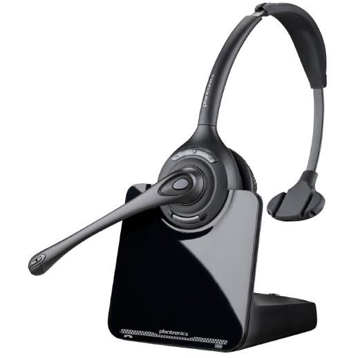 Plantronics Headset CS510A Schnurlos Monophon Schwarz