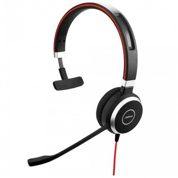 Jabra Evolve 40 UC Mono Monophon Kopfband black Headset