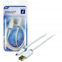 USB A-B micro ST-ST 2m white | Innovation IT
