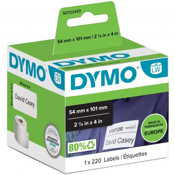Dymo LabelWriter - Versandetiketten/Namensschilder Selbstklebend - 54 x 101 mm - (S0722430)