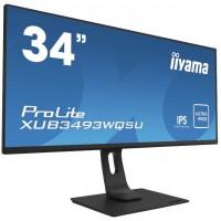 86,7cm/34'' (38440x1440) Iiyama ProLite XUB3493WQSU-B1 4ms 21:9 USB HDMI DisplayPort Speaker UltraWi