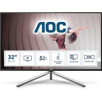 80cm/31,5'' (3840x2160) AOC U32U1 16:9 5ms 2xHDMI DisplayPort USB-C VESA Pivot Speaker 4K UHD Black Silver