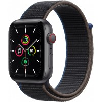 Apple Watch SE GPS + Cellular, 44mm Space Gray Aluminium Case with Charcoal Sport Loop *NEW*